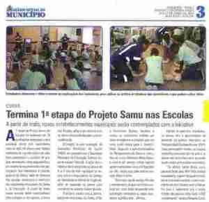 Samu nas Escolas - Finalização da 1ª Etapa - DOM