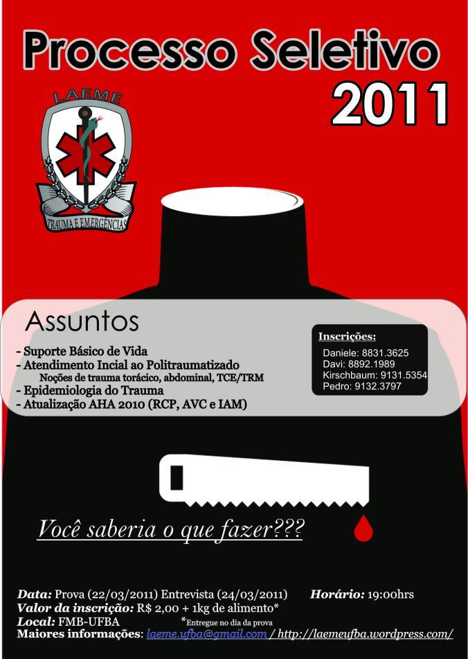 Processo Seletivo LAEME 2011