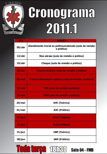 Cronograma LAEME 2011.1