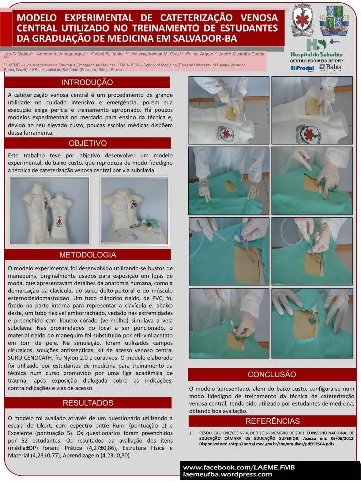 Poster Premiado no Congresso do CBC setor Bahia.
